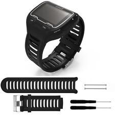 Soft Silicone Wrist Band Strap Bracelet +Tool for Garmin Forerunner 910XT GPS