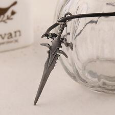 Kette Halskette Anhänger Schwert Dolch Kreuz Gothic Horn Männer Herren Messer