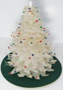 VINTAGE STAR BRIGHT WHITE STAR CHRISTMAS TREE 1950 s Modern MID CENTURY