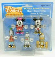 Walt Disney Robot Figures Mickey & Friends Mini Robot figure set New Disney Robo