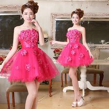 NEW Strapless Evening Prom Party Dress Lady Bridesmaids Little Short Dress C375