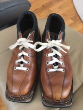Vintage Norrona Ski Boots Nordic 3-Pin Leather Cross Country sz 5 NORWAY XC snow