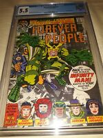 FOREVER PEOPLE #2 CGC 5. 5 ( 1971 ) DARKSEID 2nd APP - Jack Kirby cover / art