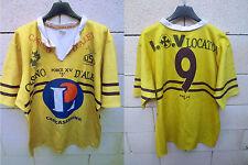 VINTAGE Maillot rugby U.S CARCASSONNE porté n°9 FORCE XV club centenaire shirt