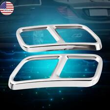 Stainless Steel Exhaust Pipe Muffler Tips Cover Trim For Mercedes X166 W222 /251