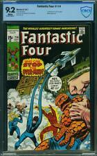 Fantastic Four 114 CBCS 9.2 (CGC peer) -- 1971 -- 1st app Over-Mind. John Romita