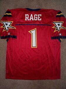 THROWBACK Orlando Rage #1 nfl XFL Football Jersey Adult MEN/MENS (XXL-2XL-52)