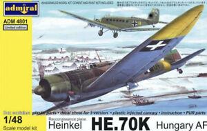 *** 1/48 Admiral AZ model Heinkel HE.70K Hungary AF Bausatz ist OVP RAR ***