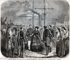 TERRACINA:SBARCO RE E REGINA DI NAPOLI.Francesco II.Regno delle Due Sicilie.1861
