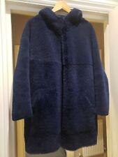 Sprung Freres Shearling Leather Jacket Coat Size M/L