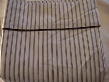 Ralph Lauren Modern Driver 100% Cotton Percale Stripe Queen Flat Sheet New