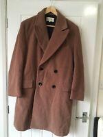 Women's REISS Coat - XL UK16 - Pink/Brown - Wool Blend - Great Condition