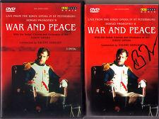 DVD Valery GERGIEV Signed PROKOFIEV War and Peace BORODINA ALEKSASHKIN GREGORIAM