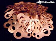 100 Tattoo Machine #8 Copper Solder Lugs USA Made by Forward Tattoo Supply