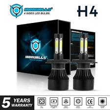 H4 LED Bulb HID White 360°Hi/Low Beam Motorcycle Headlight 6000K Power 4 sides