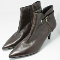 Bandolino Womens Pointed Toe Ankle Chelsea Boots, Brown Leather, Size 8