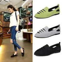 New Fashion Ladies Flats Hollow Out Shallow Pull on Loafers Casual Shoes Size 6