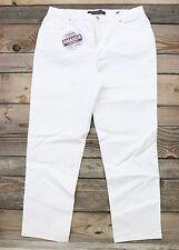 Gloria Vanderbilt AMANDA White Classic Tapered Original Slimming Jeans 14 NEW!