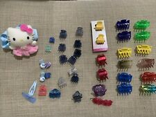 Lot of Girls Mini Small Hair Accessories Claws Clips Multicolor Hello Kitty Cat