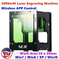 Us 3000mw Laser Engraving Machine Diy Print Carving With Wireless App Control