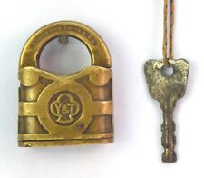 Rare Antique Lock From Yale & Towne Mfg. Beautiful Collectible Padlock.G2-67 US