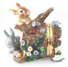 CWC Porcelain Easter Bunny Hinged Trinket Box - New