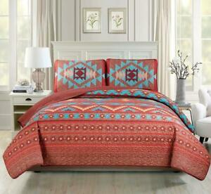 Rustic Western Southwestern Native Indian Twin - Extra Long (2 Piece)