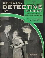 Official Detective Stories Aug 1941 Vtg Crime Magazine - Killer Chief Police VG