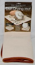 Microfiber Dish Drying Mat, 16 Inches x 18 Inches, Tan, New