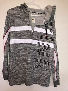 Victoria's Secret PINK Women's Red Gray Black Pullover Hoodie Size XS