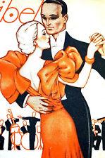 Zappa Maribel 1935 BALLROOM DANCING and Band Music Spanish Art Deco Cover Matted