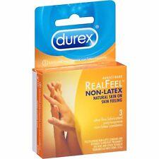 Durex Real Sensation Avanti Bare Polyisoprene Condoms, sans Latex - 3 Chaque