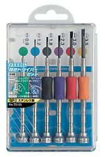 VESSEL / PRECISION SCREWDRIVER SET (SLOTTED 6 SIZE) / TD-55 / MADE IN JAPAN