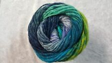 Noro Kureyon #359 Aqua Navy Teal Grey & Lime Mix 50g