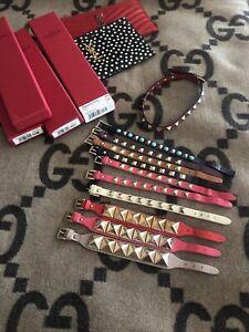 1 Valentino Rockstud Leather Bracelet Ivory SOLD SEPARATELY!!