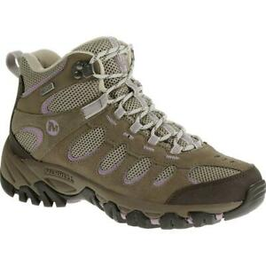 Merrell Ridgepass Women's Brindle/Sea Fog Mid Waterproof Boots 5M