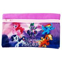 My Little Pony Girls Flat Zipper Pencilcase School Fun Friendship Adventure PINK