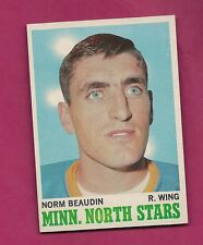 1970-71 TOPPS # 48 NORTH STARS NORM BEAUDIN  ROOKIE NRMT+ CARD  (INV#3350)