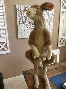 Melissa and Doug Australian Kangaroo Plush Stuffed Animal 35 in tall. With Joey