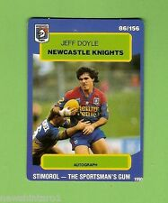 1990 RUGBY LEAGUE CARD #86  JEFF DOYLE, NEWCASTLE KNIGHTS