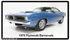 1970 Plymouth Barracuda Auto Refrigerator / Tool Box Magnet Man Cave