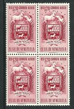 Venezuela: 1951; Scott C514 coat of arms of Apure, 1.20 block 4, VE2575