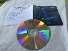 LEONARD COHEN  - LIVE IN LONDON DISC 1 - FRENCH ONLY PROMO CD!!!!!!!!!