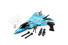 Military F16 Camouflage Fighter Jet Plane Bomber with Action Soldier Kids Toy uk