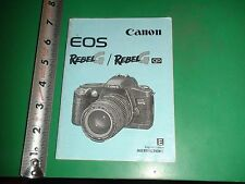 JD788 1996 Canon EOS Rebel G Camera Guide