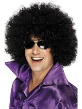 Black 1970's Disco Afro Wig, Mega-Huge Adult Unisex Smiffys Fancy Dress Costume
