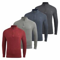 Mens Jumper Duck and Cover Designers Knitwear 1/4 Zip Neck