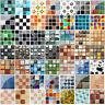 3D Mosaic Wall Sticker Self-adhesive Tile Sticker Kitchen Bathroom Decor US