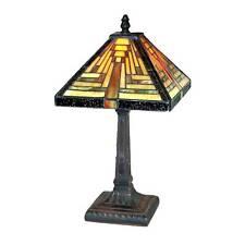 Tiffany Style Table Lamp 38cm Pyramid Art Deco Glass Shade Buy 2 Save 10