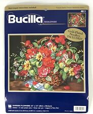 Bucilla Garden Flowers 4811 Needlepoint Kit Nancy Rossi Floral Color Canvas 2000